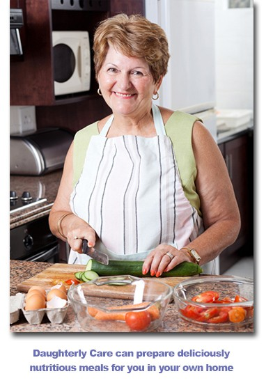 Daughterly Care prepares nutritious meals for In-Home care