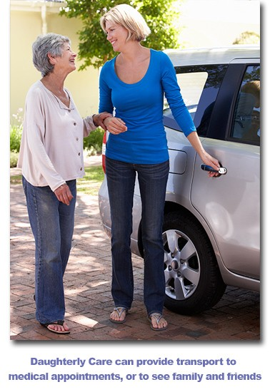 Daughterly Care provides transport for in home care clients