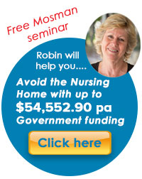 avoid nursing in-home care package government funding mosman