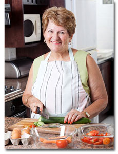 carer prepare meals elderly elder