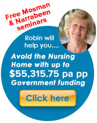 avoid nursing in-home care package government funding mosman northern beaches north shore
