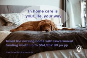 inhome in home care elder nursing aged cdc consumer directed dementia seaforth crows nest