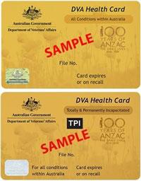 pensioner department of veteran affairs card