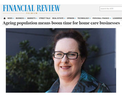 Australian Financial Review with Kylie Lambert about Aged Care
