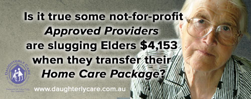 Home Care Package exit fee