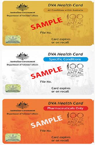 Department of veterans affairs cards
