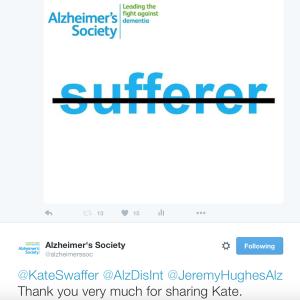 Alzheimer's society kate swaffer