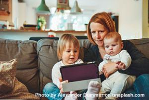 live-in care elder distant adult children grandchildren home